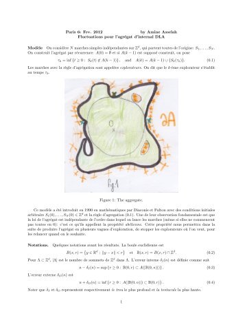 Paris 6: Fev. 2012 by Amine Asselah Fluctuations pour l'agrégat d ...