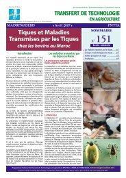 Fichier PDF (400 ko) - Transfert de Technologie en Agriculture