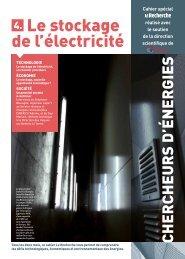 4. Le stockage de l'électricité - Planète Energies