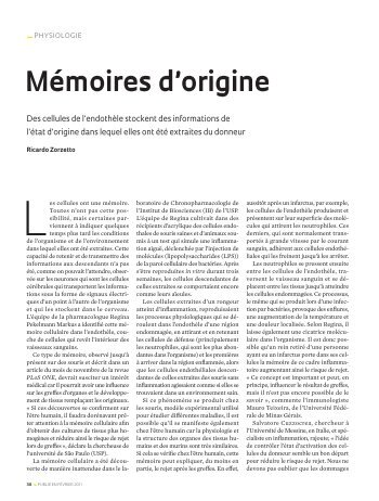 Mémoires d'origine _Physiologie - Revista Pesquisa FAPESP