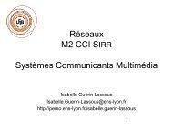 Réseaux haut débit, QoS, Multimédia SIR1