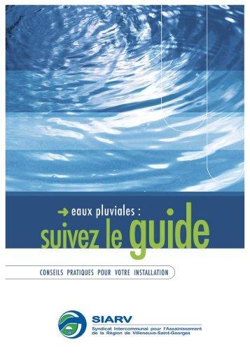 Brochure Eaux pluviales : suivez le guide - siarv