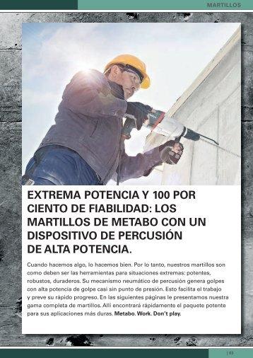 EXTREMA POTENCIA y 100 POR CIENTO DE FIABILIDAD ... - Metabo