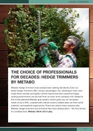 ThE ChOICE OF PROFESSIONALS FOR DECADES ... - Metabo