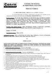 Procès Verbal du 2 juin 2010 - Cenon