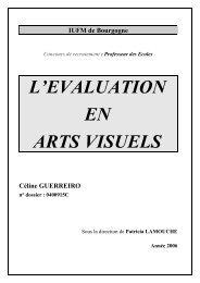 L'EVALUATION EN ARTS VISUELS - IUFM