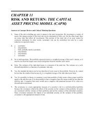 CHAPTER 11 RISK AND RETURN: THE CAPITAL ASSET PRICING ...
