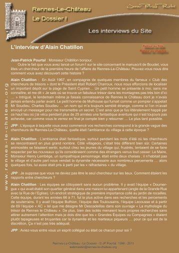 L'interview d'Alain Chatillon - Rennes-Le-Château