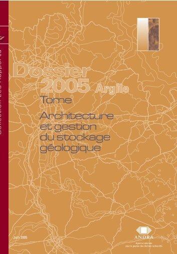 Tome Architecture et gestion du stockage géologique (PDF - Andra