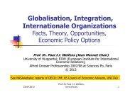 as of 25.04.2013 - Prof. Dr. Paul JJ Welfens