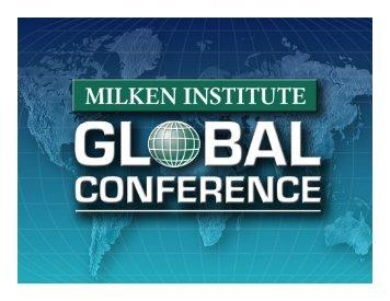 Slides - Milken Institute