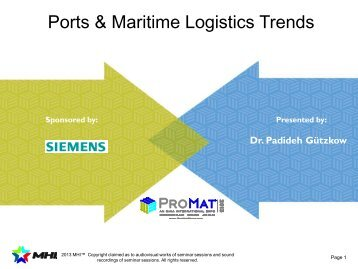 trends in maritime transport and port Port and maritime transport issues and views c bert kruk, lead port specialist bradley c julian, port and maritime transport specialist port and maritime transport office (pmto) transport division energy, transport and water department  ¾recent industry and sector trends • world maritime transport development • global (container) port.