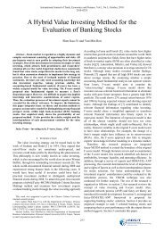 A Hybrid Value Investing Method for the Evaluation of Banking ... - ijtef