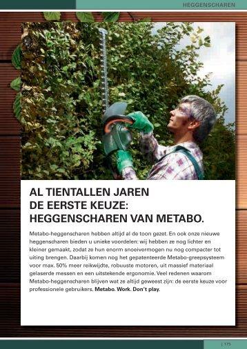 AL TIENTALLEN JAREN DE EERSTE KEUZE ... - Metabo