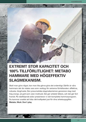 EXTREMT STOR KAPACiTET OCH 100 ... - Metabo