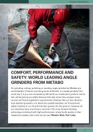 COMFOrt, PErFOrManCE anD SaFEty: wOrLD LEaDInG ... - Metabo