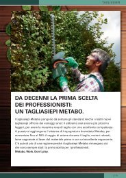 DA DECENNI LA PRIMA SCELTA DEI PROFESSIONISTI ... - Metabo