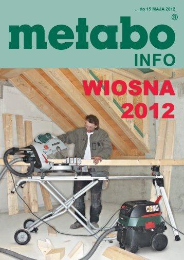 promocja wiosna 2012 - Metabo