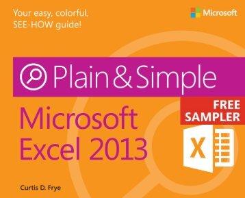 Microsoft Excel 2013 Plain & Simple - Cdn.oreilly.com