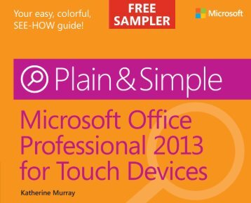 Microsoft Office Professional 2013 for Touch ... - Cdn.oreilly.com