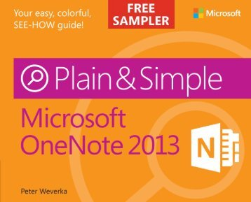 Microsoft OneNote 2013 Plain & Simple - Cdn.oreilly.com
