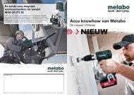Accu knowhow van Metabo