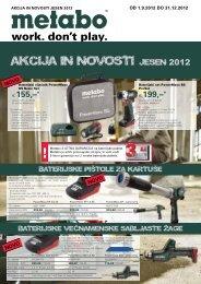 AKCIJA In novostI JEsEn 2012 - Metabo