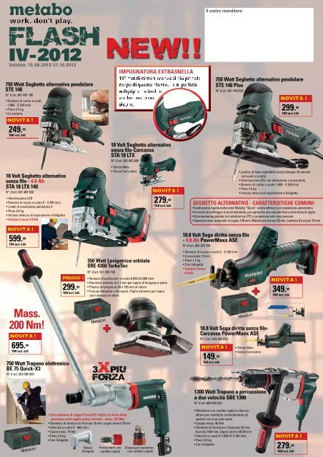 BE 560 Carboncini Metabo SBE 560 SB 560