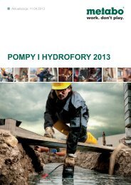 pompy i hydrofory 2013 - Metabo
