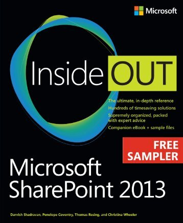 Microsoft SharePoint 2013 Inside Out - Cdn.oreilly.com