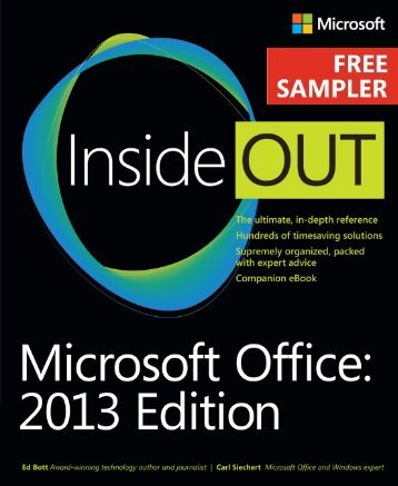 Microsoft Office Inside Out: 2013 Edition - Cdn.oreilly.com
