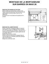 montage de la mortaiseuse sur barres en maxi 26 - Metabo