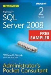Microsoft SQL Server 2008 Administrator's Pocket ... - Cdn.oreilly.com