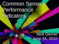 Common Sense Performance Indicators in the ... - Cdn.oreilly.com