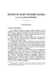 GÉOLOGIE DU BASSIN POTASSIQUE D'ALSACE - Revue de ...