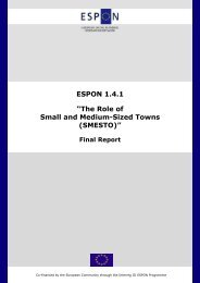 The Role of Small and Medium-Sized Towns (SMESTO) - Espon