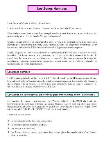 LES ZONES HUMIDES.pdf - Fédération des Chasseurs de l'Aude