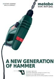 a new generation of hammer a new generation of hammer - Metabo