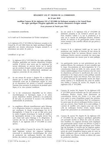 Règlement (UE) no 558/2010 de la Commission du 24 ... - EUR-Lex