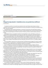Megamanipulación mediática de una polémica artificial - La Nueva ...