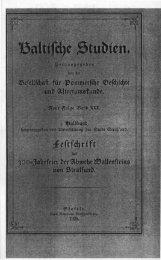 Baltische Studien. - Digitalisierte Bestände der UB Greifswald