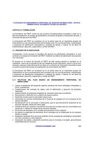 POT - 41PLANIFICACION -Miraflores (83 pag - 547KB) - CDIM - ESAP