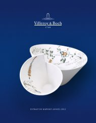 EXTRAIT DU RAPPORT ANNUEL 2012 - Villeroy & Boch