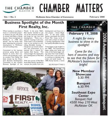 chamber matters - McAlester Chamber of Commerce