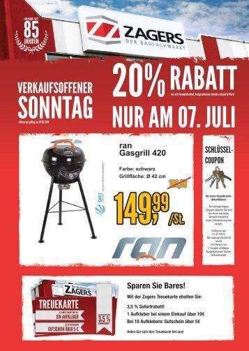 Broschüre Verkaufsoffener Sonntag 07.07.2013