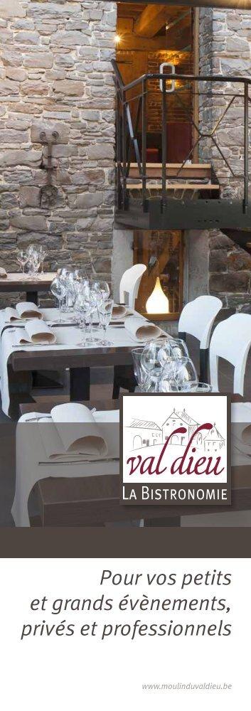 Télécharger Notre brochure banquets en pdf - Moulin du Val Dieu