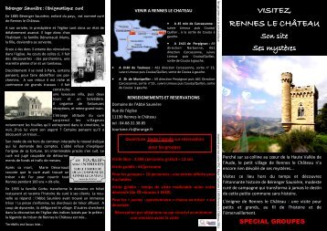 la brochure spéciale groupe - Rennes-le-Chateau