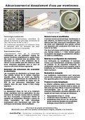 Adoucissement et dessalement d'eau par membranes - Membratec - Page 2