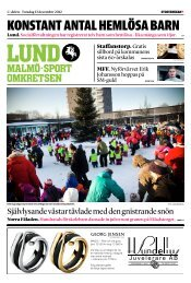 Lund - Sydsvenskan