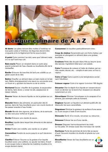 Fa onner emietter - Referentiel cap cuisine ...